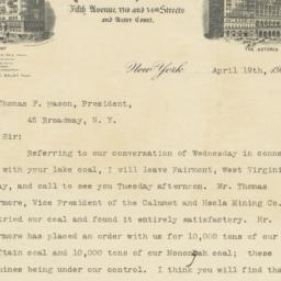 Waldorf-Astoria. Letter