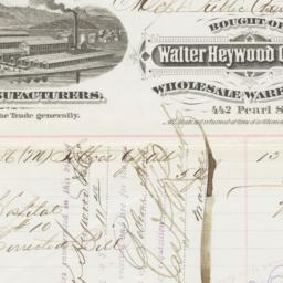 Walter Heywood Chair Co.. Bill