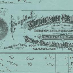 Wilkinson Bros. & Co.. Bill