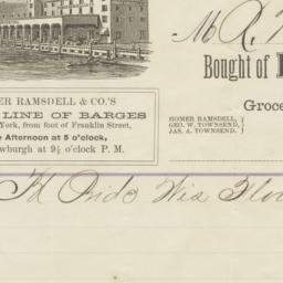 Homer Ramsdell & Co.. Letter