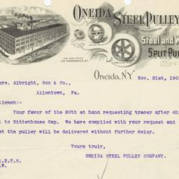 Oneida Steel Pulley Co.. Le...