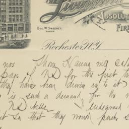 Livingston. Letter