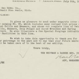 Whitman & Barnes Manufactur...