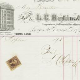 L. C. Hopkins & Co.. Bill