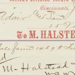 M. Halstead & Co.. Bill
