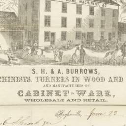 S. H. & A. Burrows. Letter