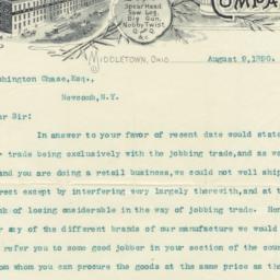 P. J. Sorg Company. Letter