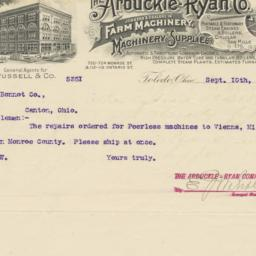 Arbuckle-Ryan Co.. Letter