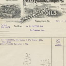 Emery Manufacturing Co.. Bill