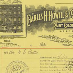 Charles H. Howell & Co.. Bill