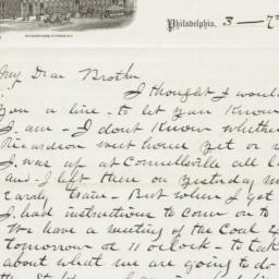 Girard House. Letter