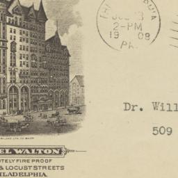 Hotel Walton. Envelope