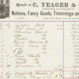 C. Yaeger & Co.. Bill