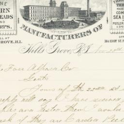Elizabeth Mills. Letter