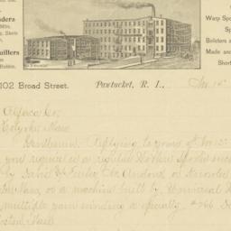 George W. Payne & Co.. Letter