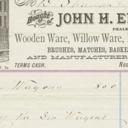 John H. Eddy & Co.. Bill