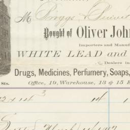 Oliver Johnson & Co.. Bill