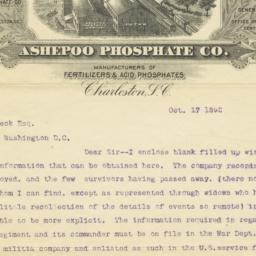 Ashepoo Phosphate Co.. Letter