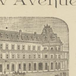 New Avenue Hotel. Card stock