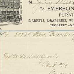 Emerson & Son. Bill