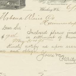 Peter Welty & Co.. Letter