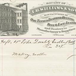 I. B. Williams & Sons. Bill
