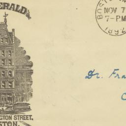 Boston Herald Co.. Envelope