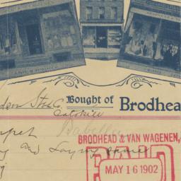 Brodhead & VanWagenen. Bill