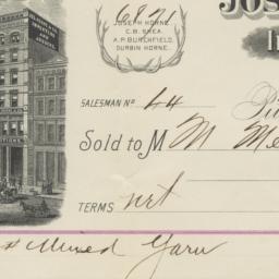 Joseph Horne & Co.. Bill