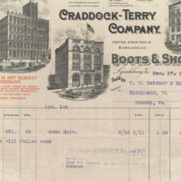 Craddock-Terry Company. Bill