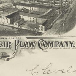 Weir Plow Company. Envelope