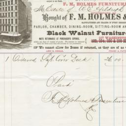 F. M. Holmes & Co.. Bill