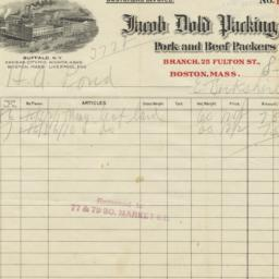 Jacob Dold Packing Co.. Bill