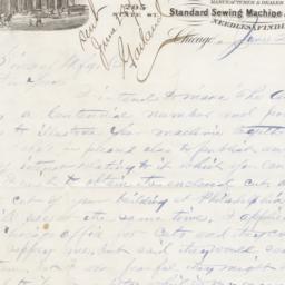H. C. Goodrich. Letter