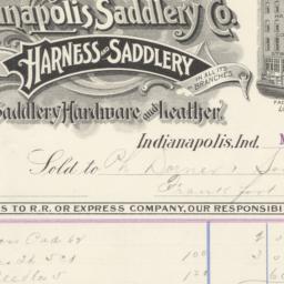 Indianapolis Saddlery Co.. ...