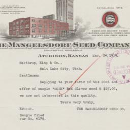 Mangelsdorf Seed Company. L...