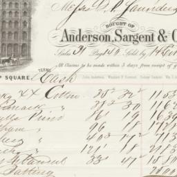 Anderson, Sargent & Co.. Bill