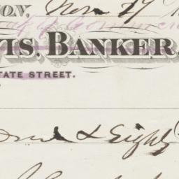 Jos W. Davis, Banker. Check