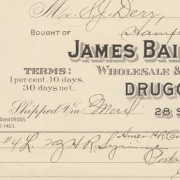 James Baily & Son. Bill