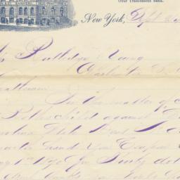 John H. Watson & Co.. Letter