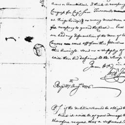 Document, 1776 August 27