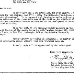 Announcements, 1955-09-06. ...