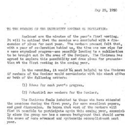Announcements, 1950-05-29. ...