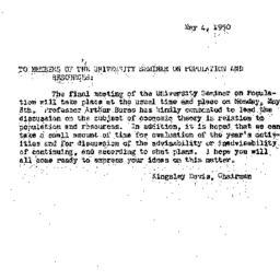 Announcements, 1950-05-04. ...