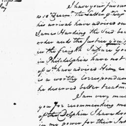 Document, 1733 March 06