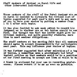 Announcements, 1951-04-20. ...
