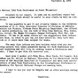 Announcements, 1949-09-02. ...