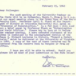 Correspondence, 1962-02-23....