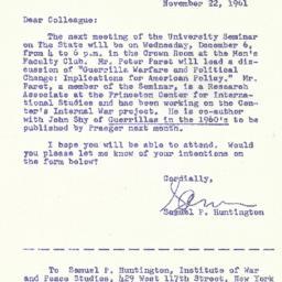Correspondence, 1961-11-22....