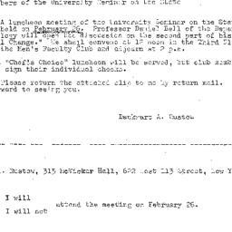 Announcements, 1968-02-06. ...